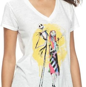 Jack and Sally V-Neck Shirt